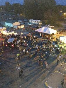 Aerial View 2 of Party at the Beach